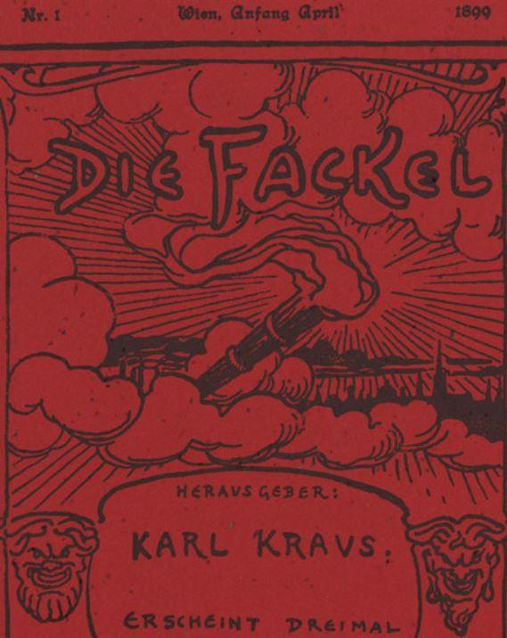 "Deckblatt ""Die Fackel- Ausg. 1 / 1899"""